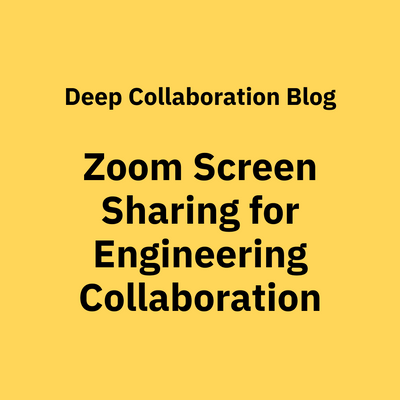 How to Use Zoom Screen Sharing for Engineering Collaboration